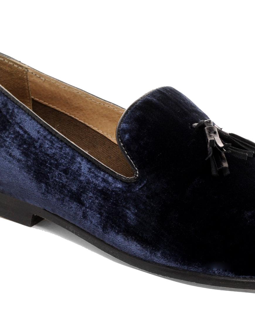 asos velvet loafers