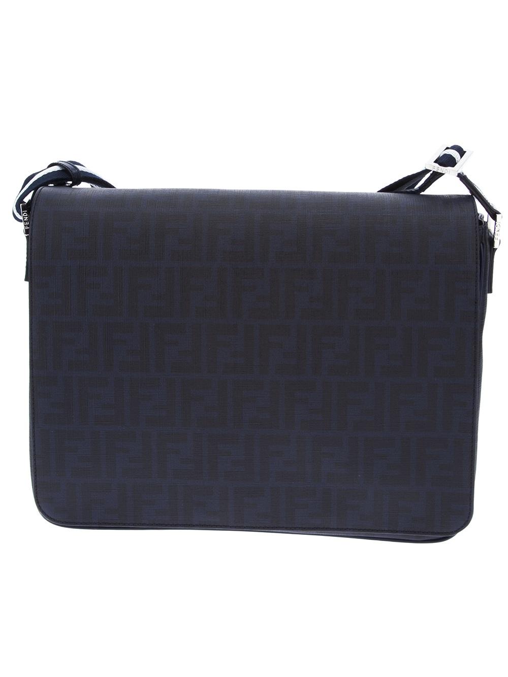f7983c6ddf7 ... Black -  quality design 7674d d7ed0 Fendi Zucca Forever Messenger Bag  in Blue for Men - Lyst ...