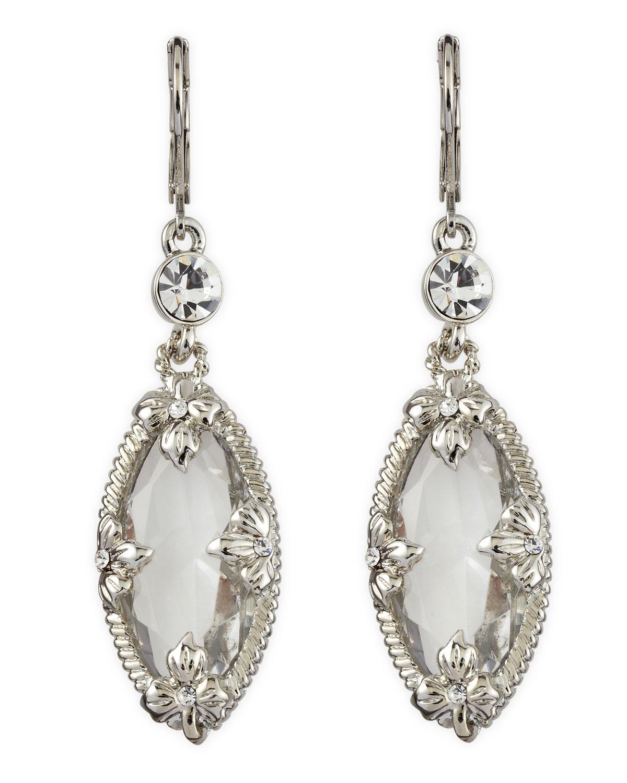 fragments clear ovaldrop earrings in silver null lyst