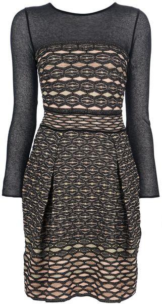 Missoni Cut Out Back Dress - Lyst