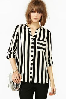 Nasty Gal Straight Up Blouse - Lyst