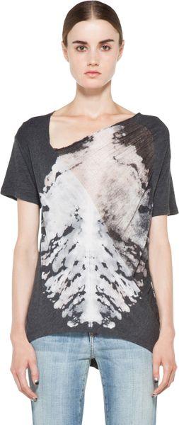 raquel-allegra-ink-black-tie-dye-diagonal-shred-shirt-in-ink-black