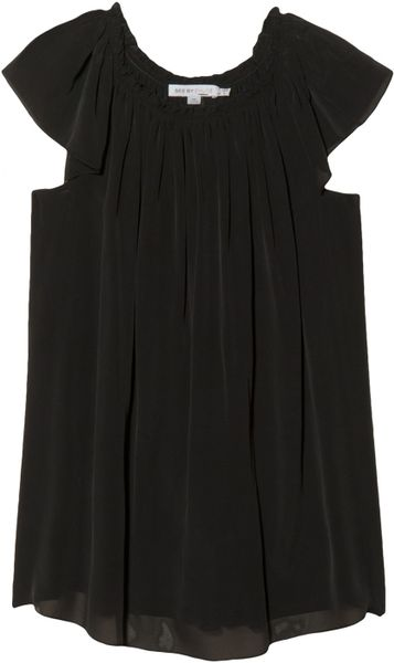 See By Chloé Pleated Neck Blouse in Black