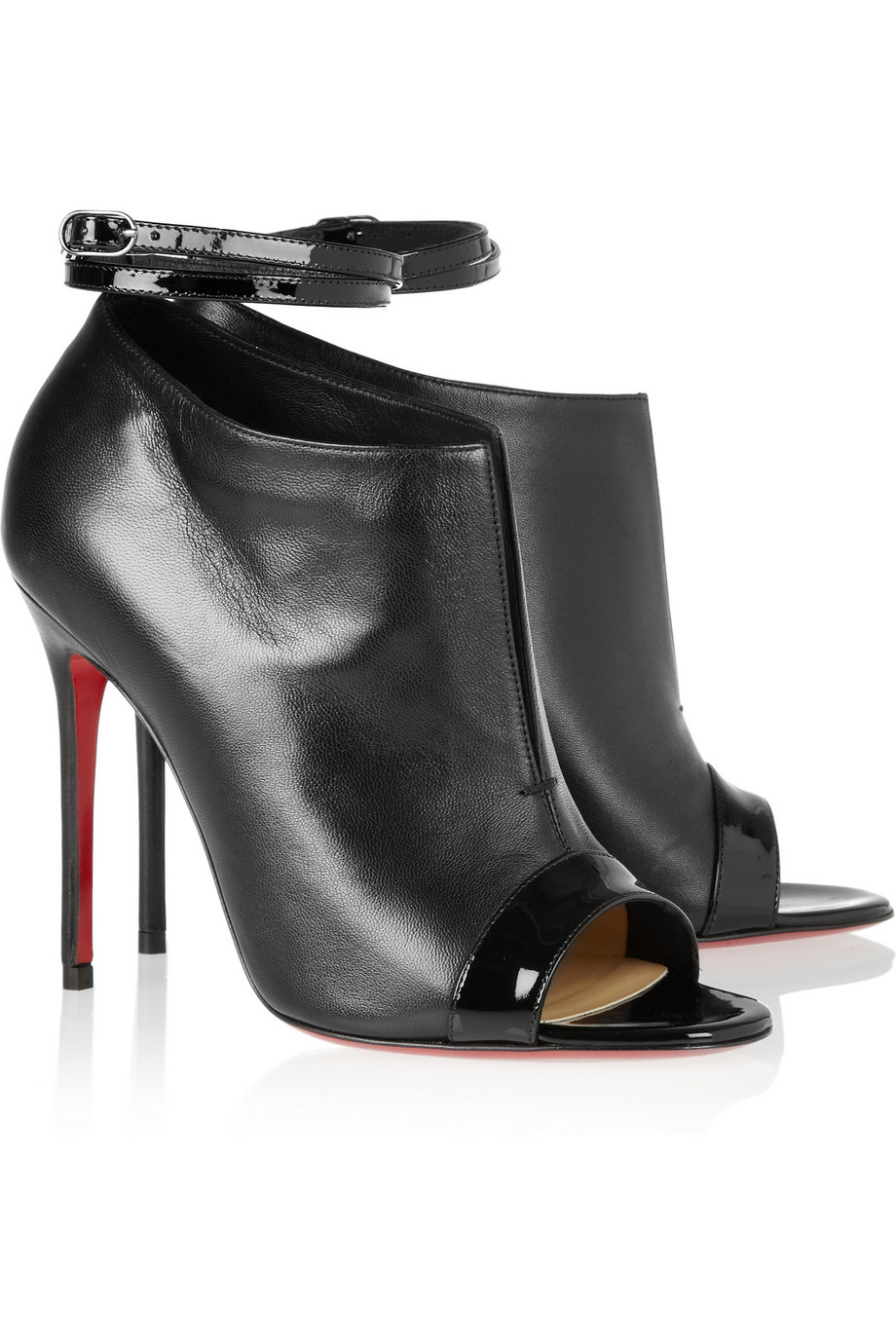 Italy Christian Louboutin Ankle Boots - Shoes Christian Louboutin Diptic 100 Leather Ankle Boots Black