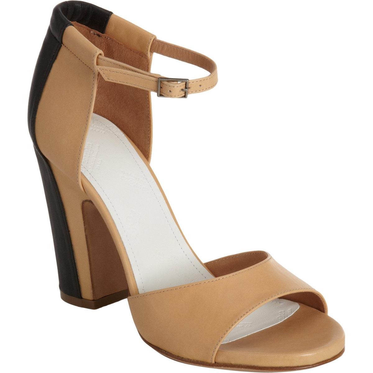 Maison martin margiela trompe loeil sandal in beige cream for A la maison lotion