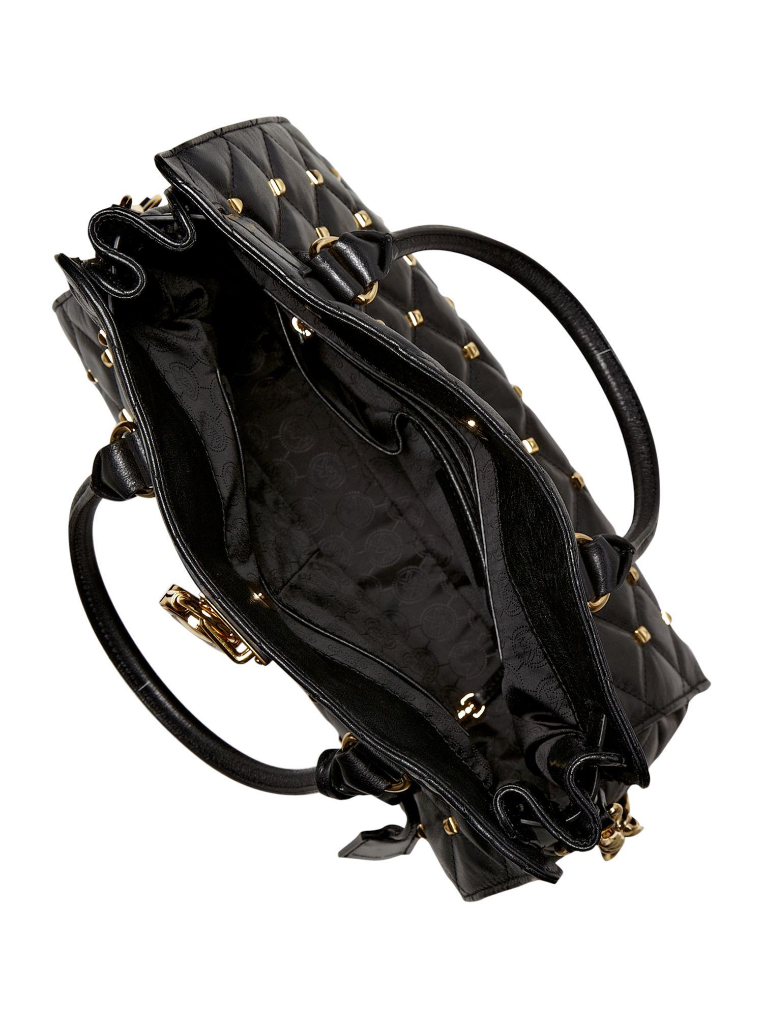 Michael Kors Stud Large Tote Bag in Black