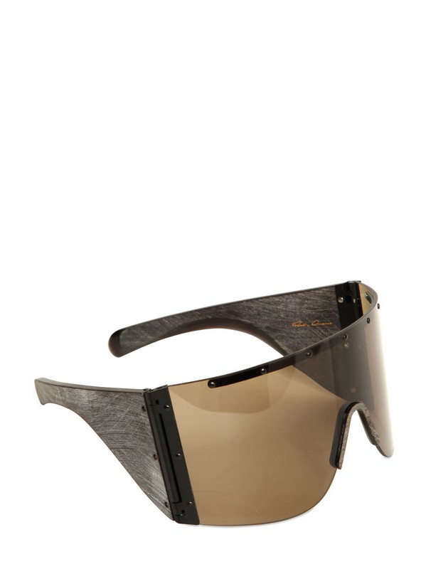 3d4787cba29 Lyst - Rick Owens Horn and Acetate Sunglasses in Brown