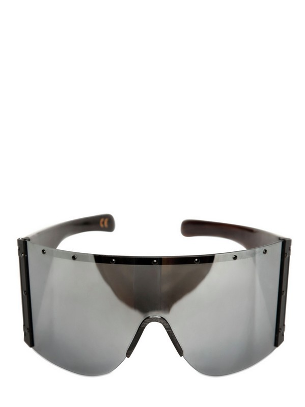 a32f253c57a Lyst - Rick Owens Shiny Horn Sunglasses in Black for Men