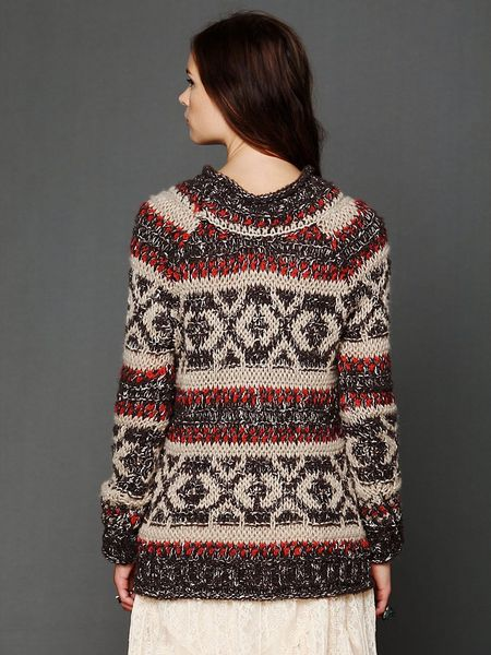 Free People Permafrost Tunic In Multicolor Chocolate Lyst