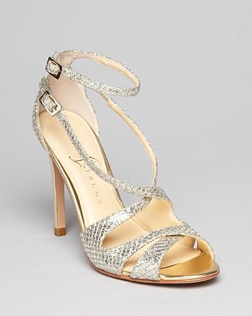 Lyst Ivanka Trump Open Toe Glitter Evening Sandals
