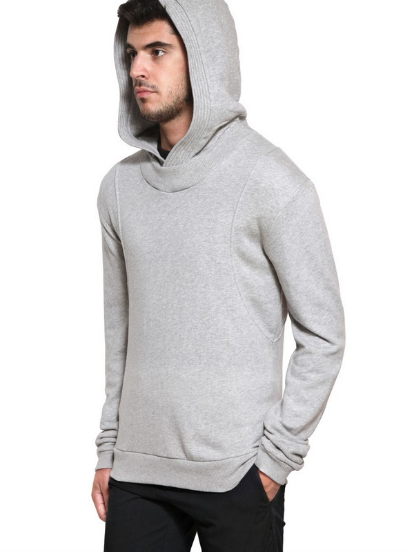 Adidas Slvr Men Hooded Gray French Basic Terry For Sweatshirt EH2DWI9