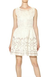 Blugirl Blumarine Embroidered Techno Organza Dress - Lyst