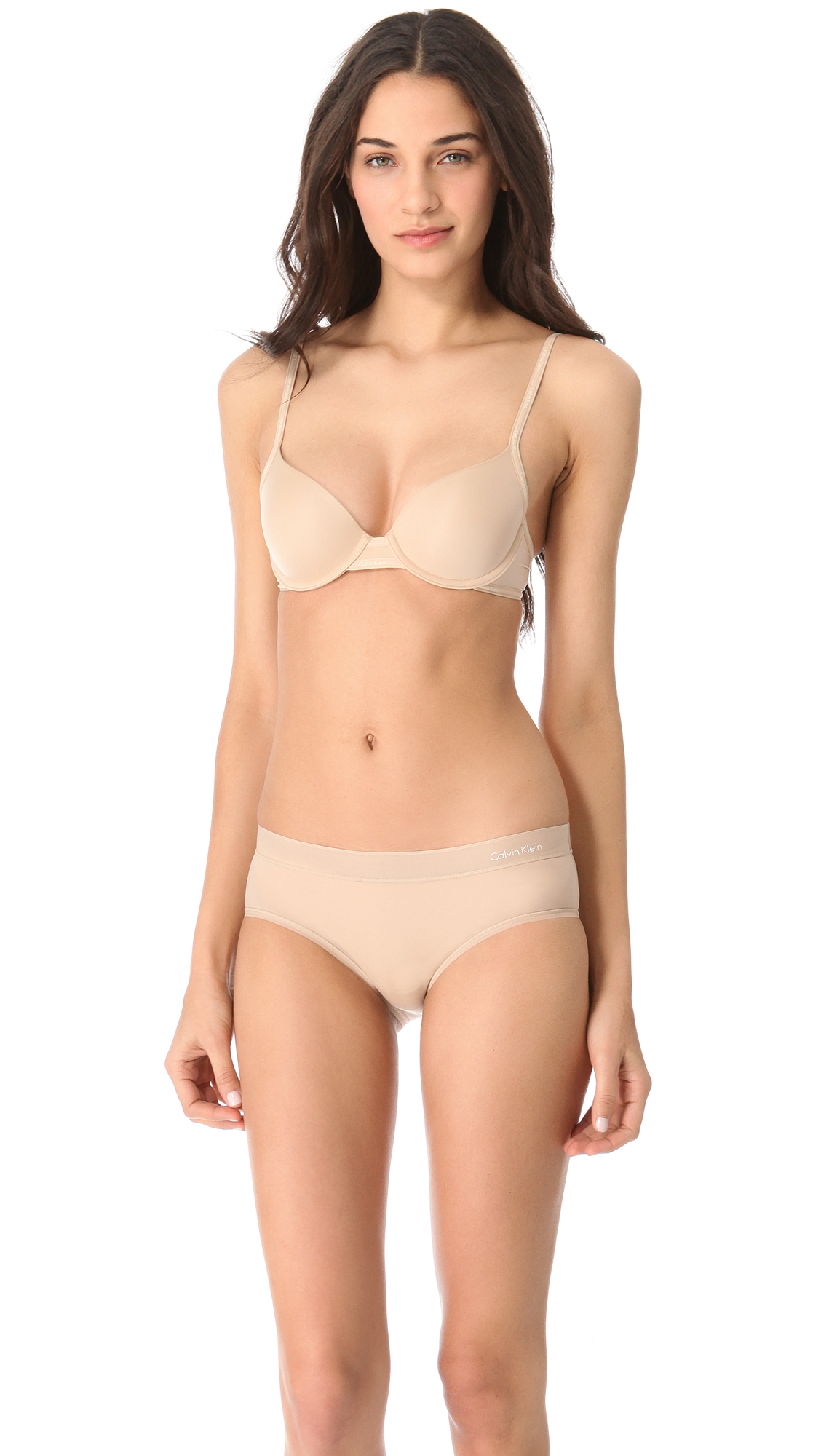 bd06080344d8d Lyst - Calvin Klein Perfectly Fit Sexy Signature Demi Bra in Natural