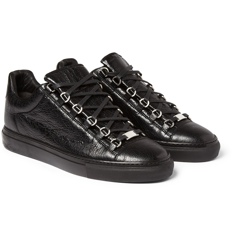 971dbe5025b9 Balenciaga Arena Creased-leather Low Top Sneakers
