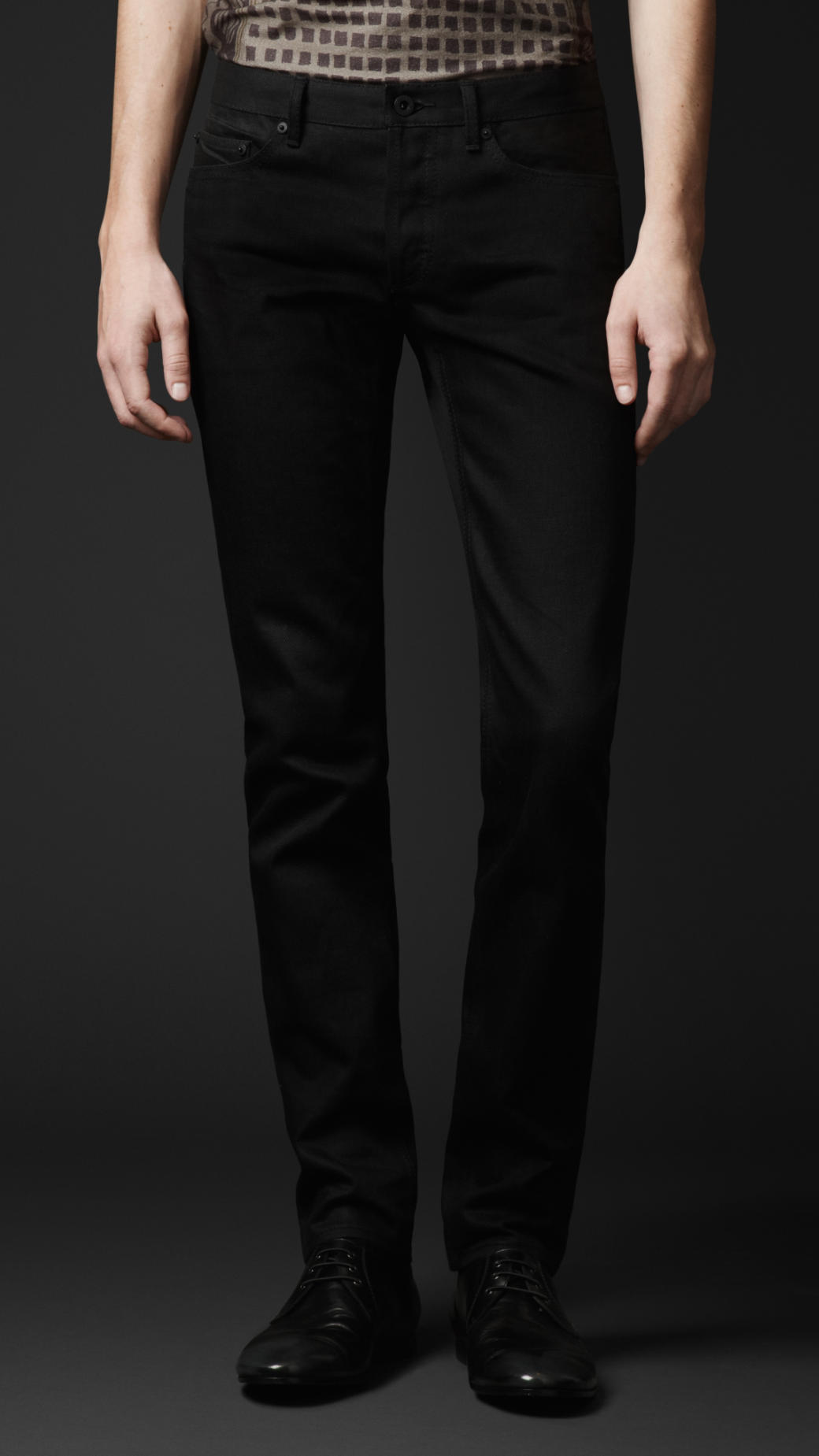 Lyst - Burberry Prorsum Skinny Fit Raw Denim Jeans in ... - photo#15