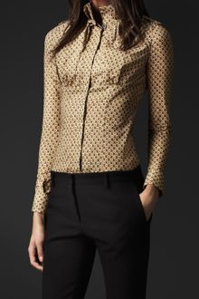 Burberry Prorsum High Collar Shirt - Lyst