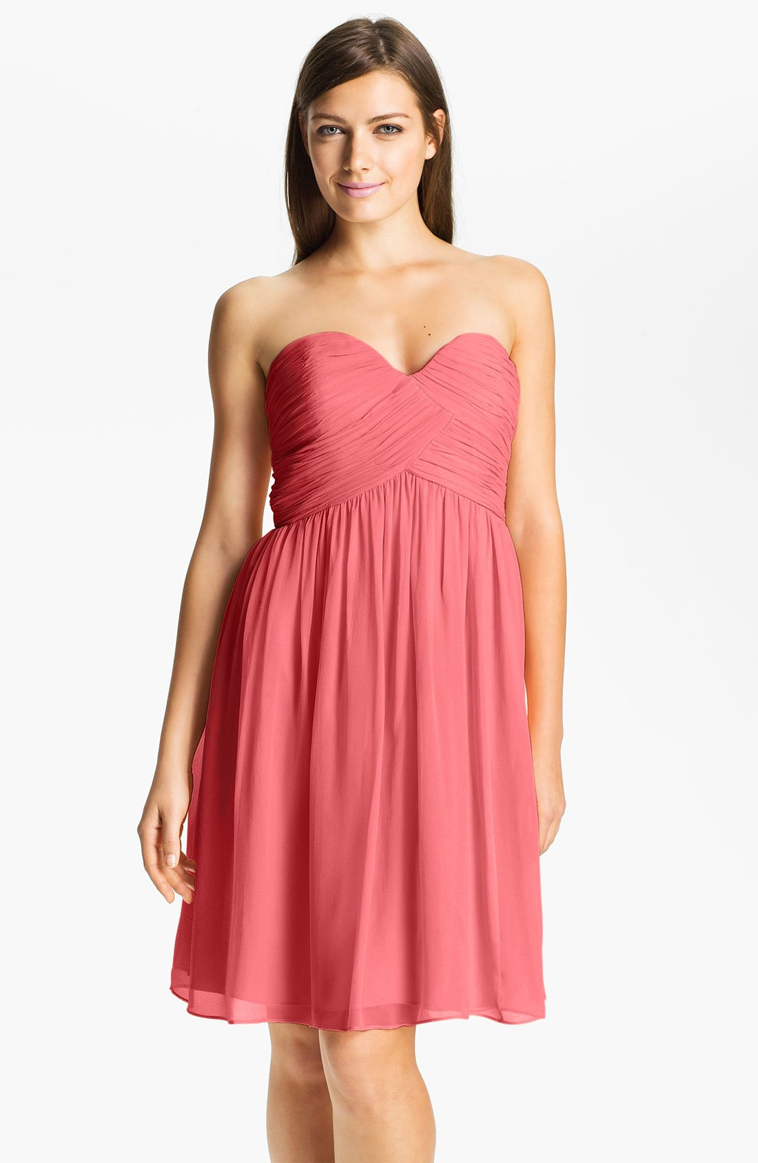 Strapless Silk Chiffon Dress