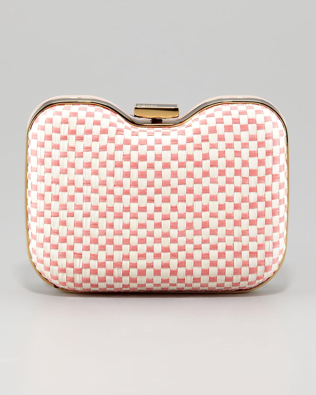 9237e7f4c816 ... france lyst fendi giano quadrotino clutch bag in pink 78471 88208 ...