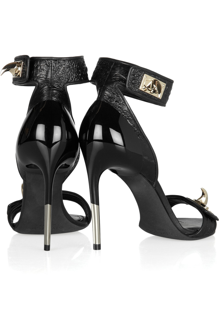 Givenchy Embellished Hagfish Sandals In Black Lyst
