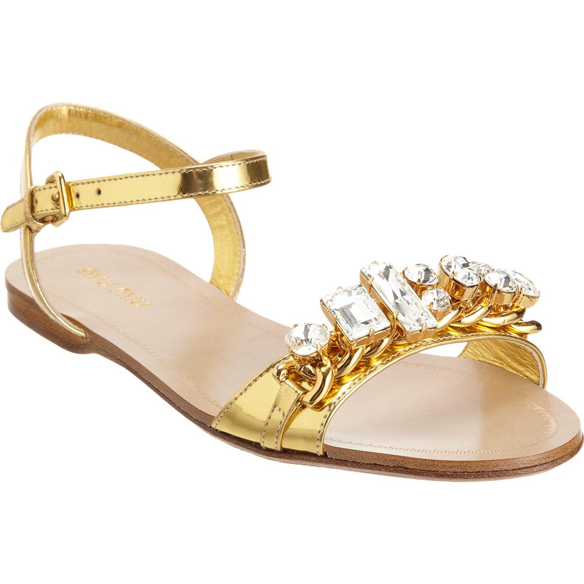 Jewel sandals Miu Miu FYiEic