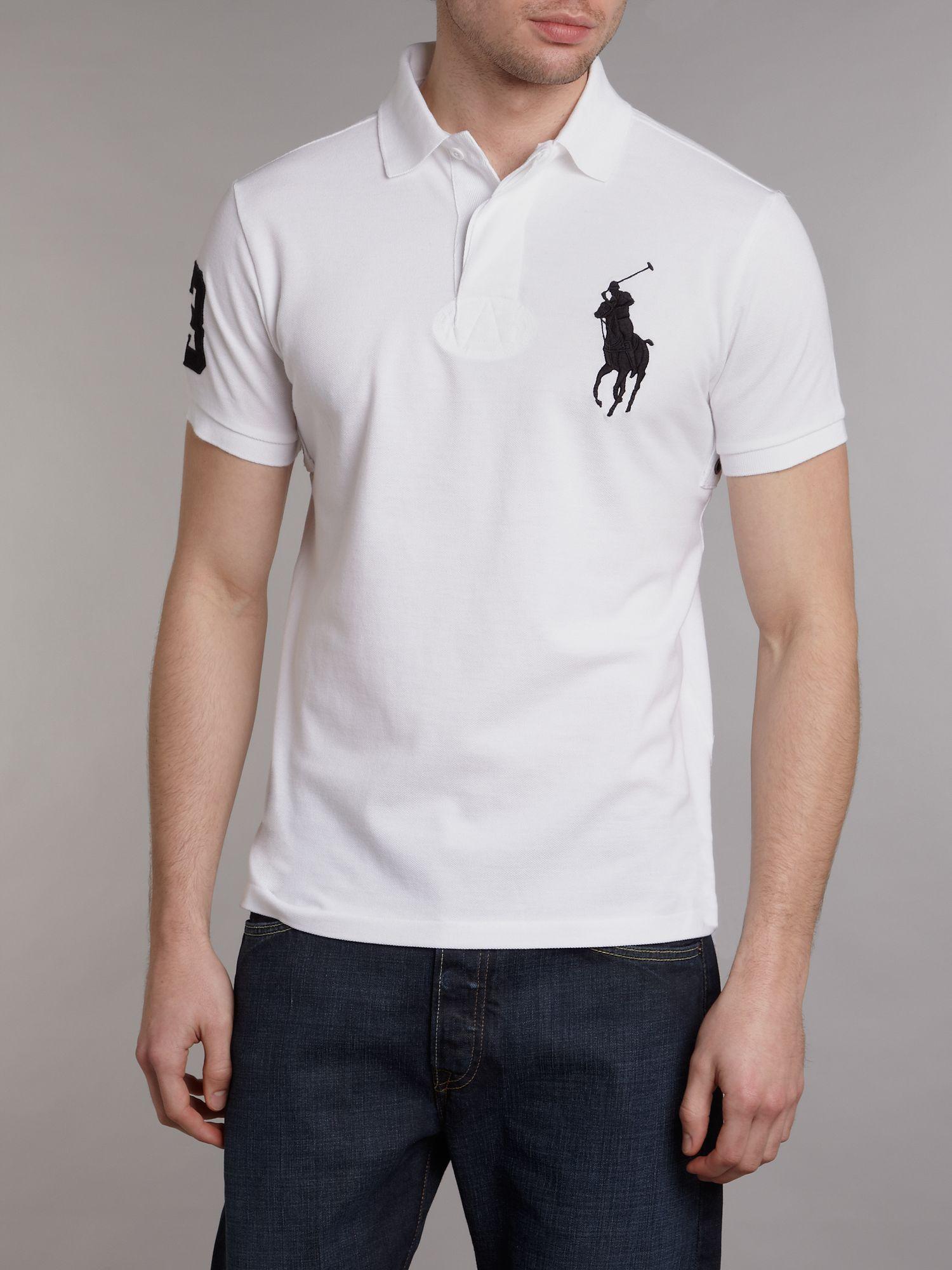 Ralph Lauren Custom Tonal Big Pony White Polo