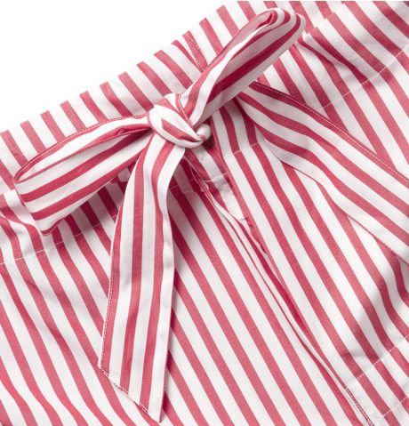 Turnbull Amp Asser Striped Cotton Pyjamas In Red For Men Lyst