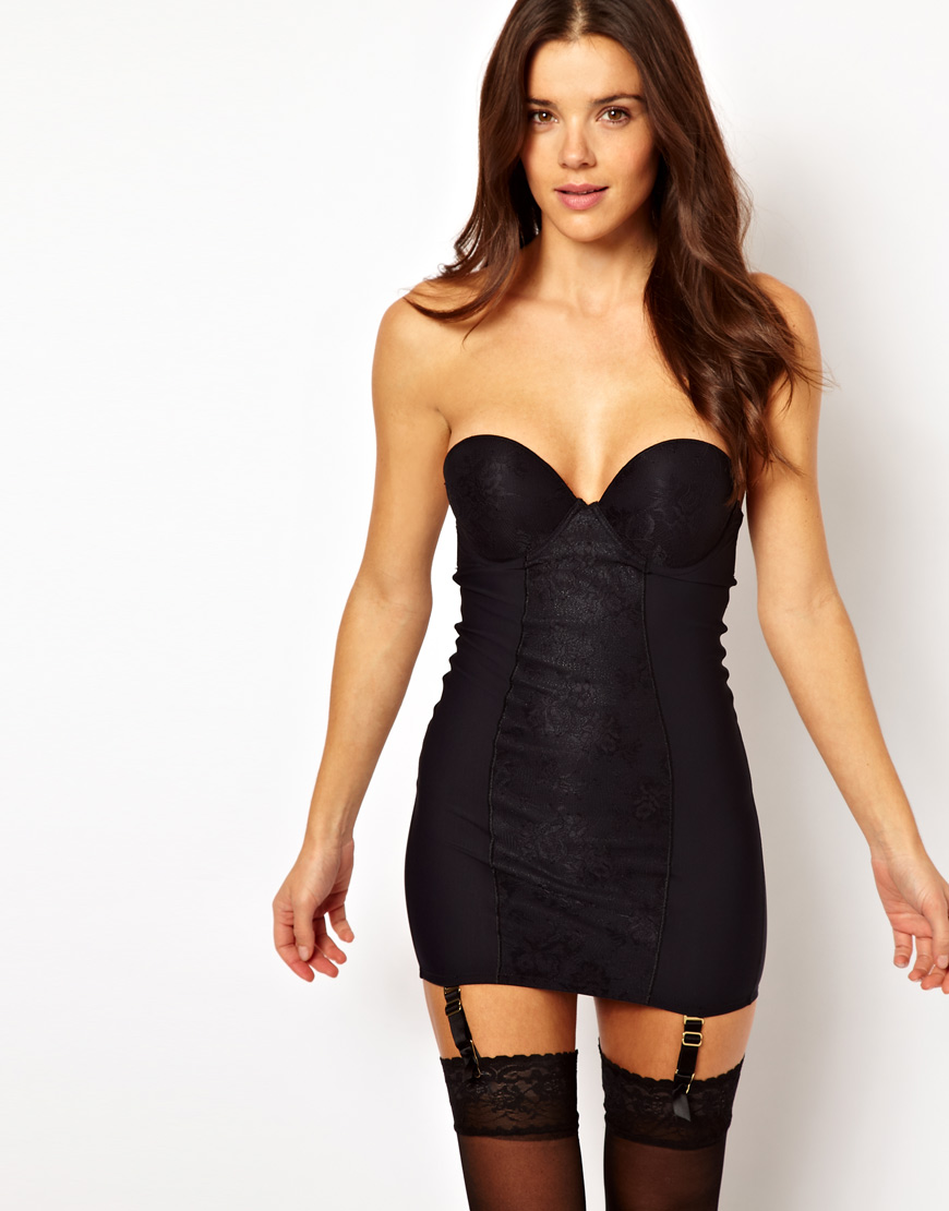 c13eb193fb Lyst - Ultimo Miracle Backless Strapless Shaping Dress in Black