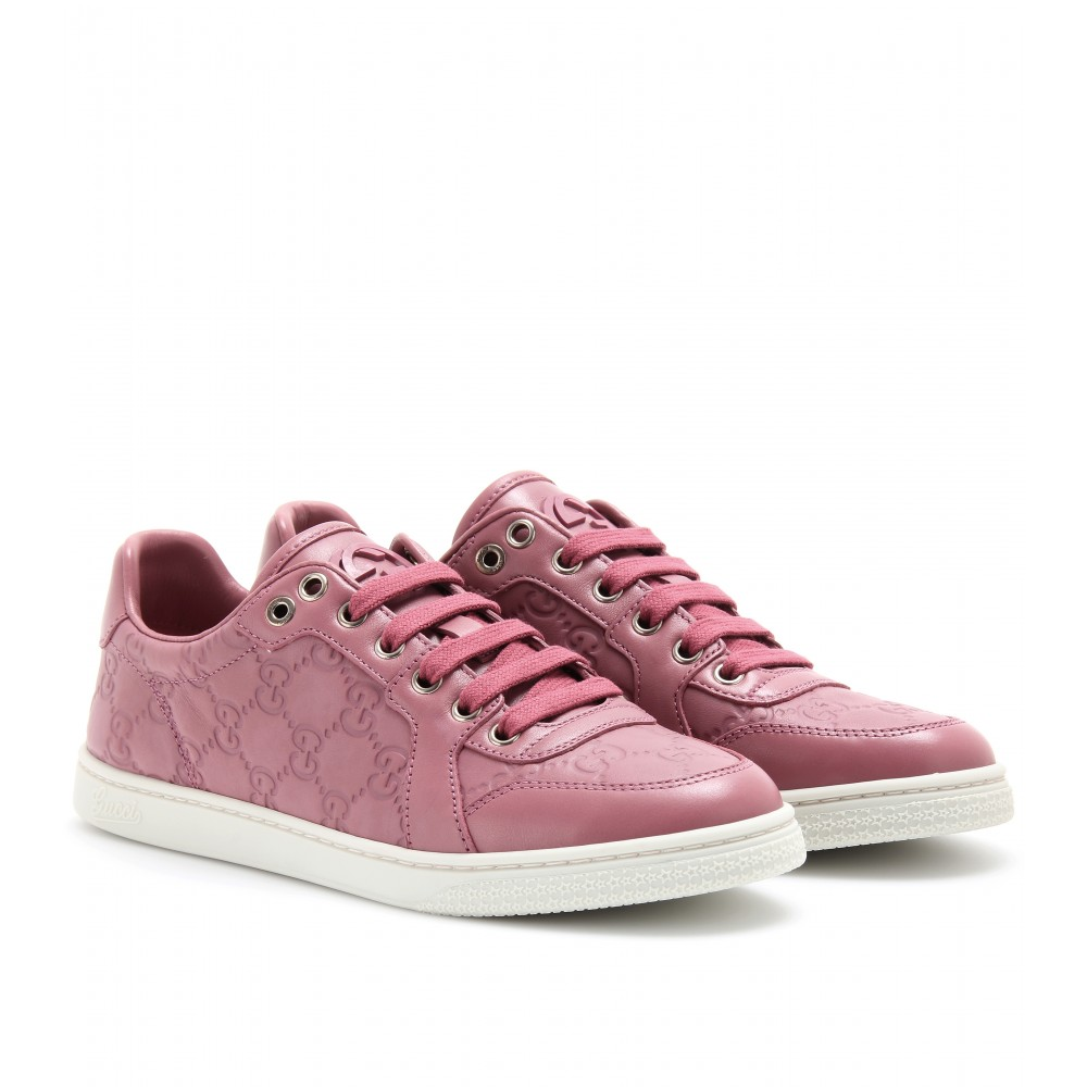 gucci litho embellished skate shoe in pink lyst