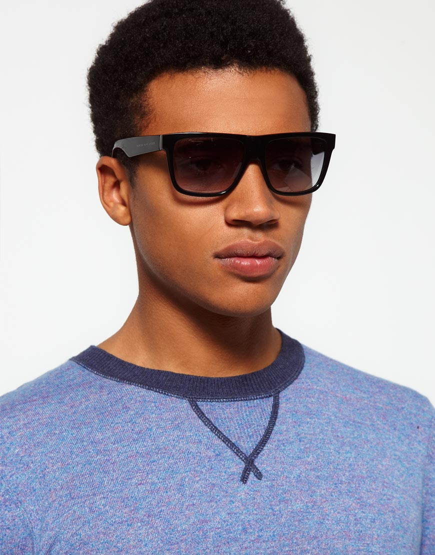 Marc Jacobs Sunglasses Mens  marc by marc jacobs flat brow sunglasses in black for men lyst