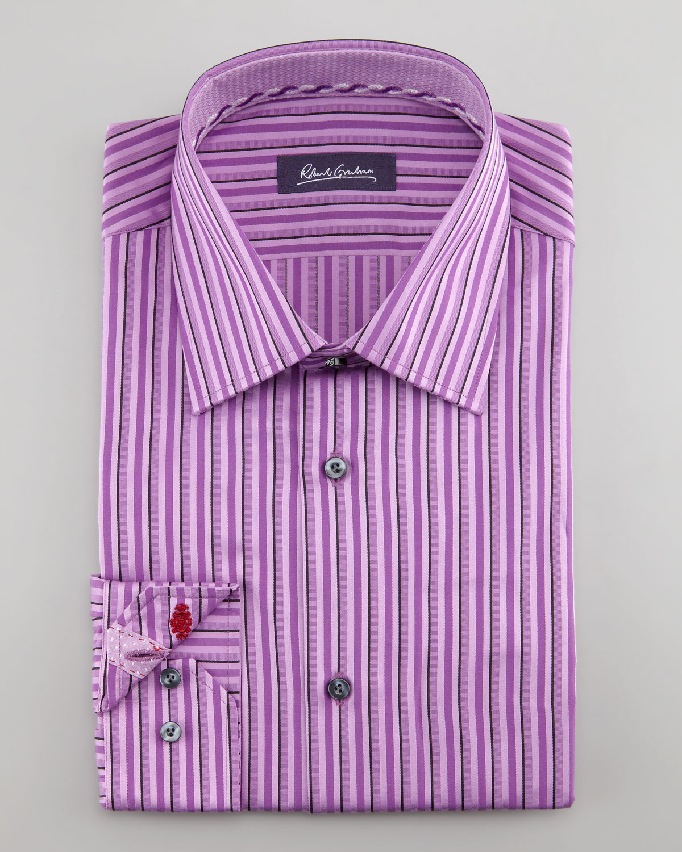 Mens Purple Striped Dress Shirts Bcd Tofu House