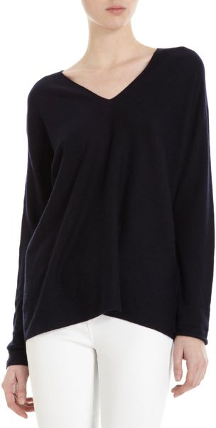 Vince Double V Sweater in Black - Lyst
