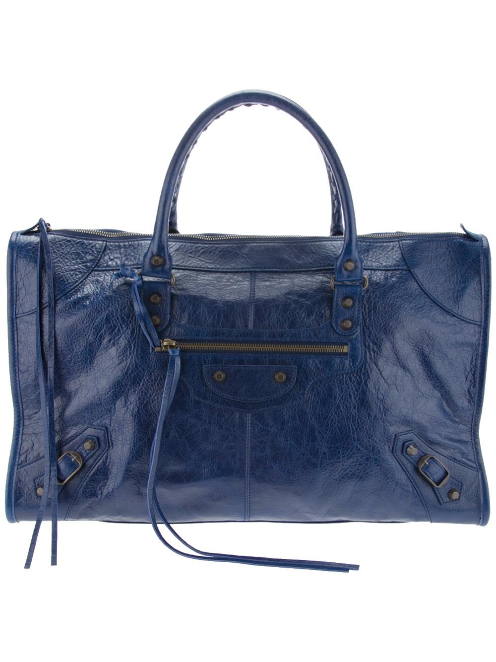 Balenciaga Everyday Xs Metallic Leather Tote in Metallic