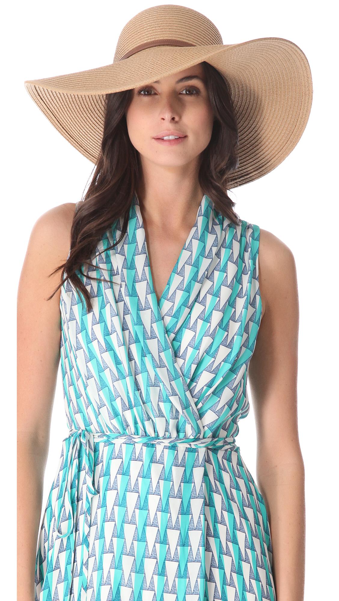 Lyst - Melissa Odabash Jemima Sun Hat in Brown 5adc84f6d093