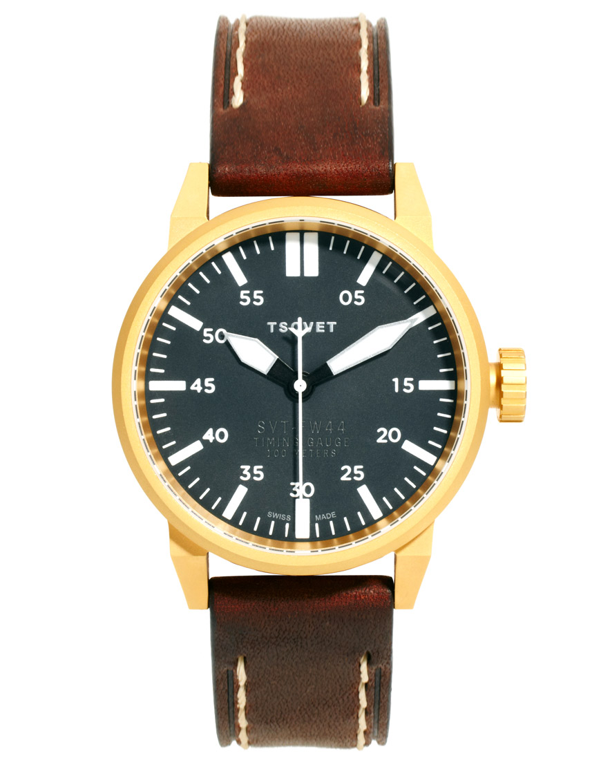 tsovet fw44 leather in brown for lyst