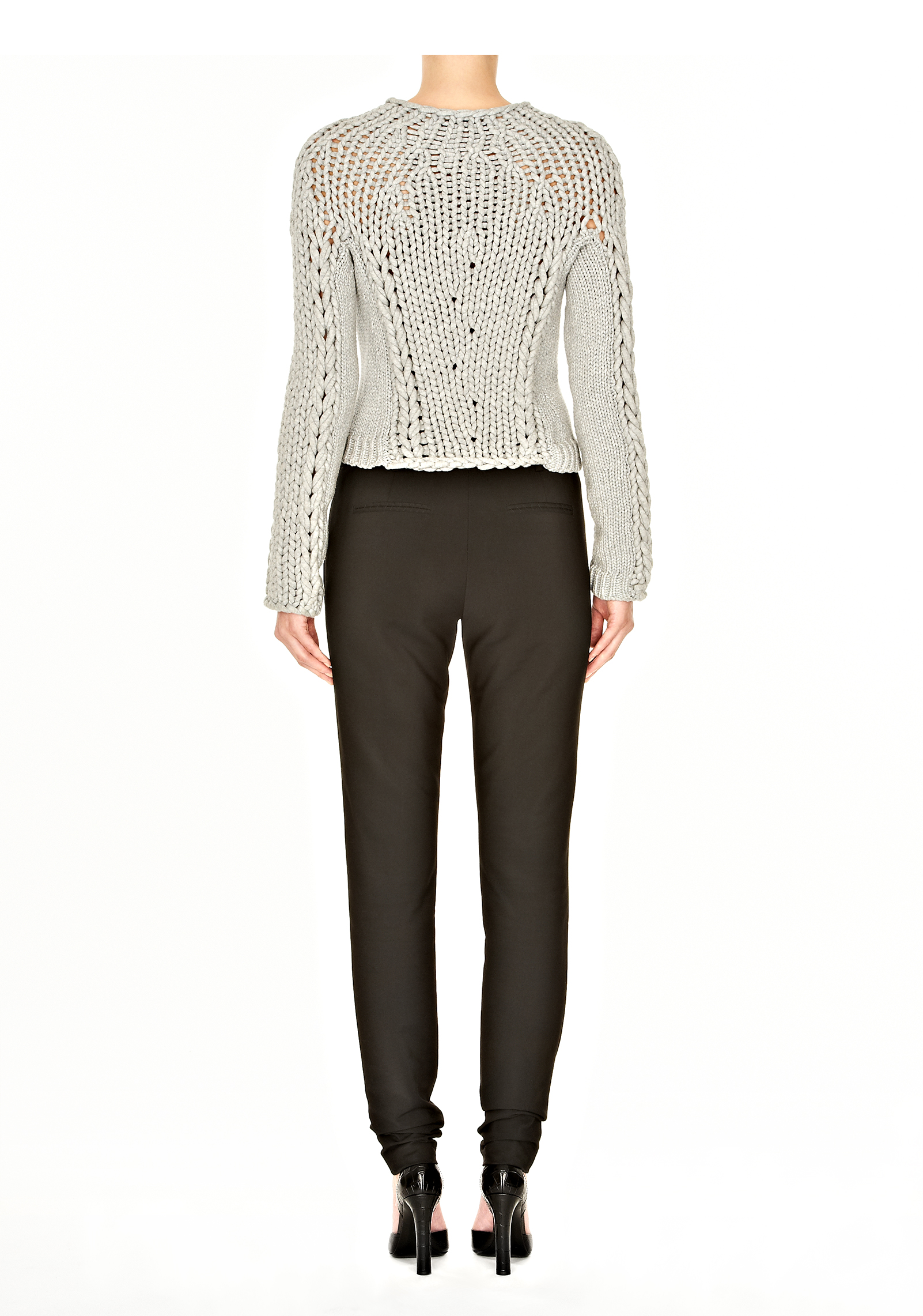 Lyst Alexander Wang Skinny Boy Pant With Leather Belt In