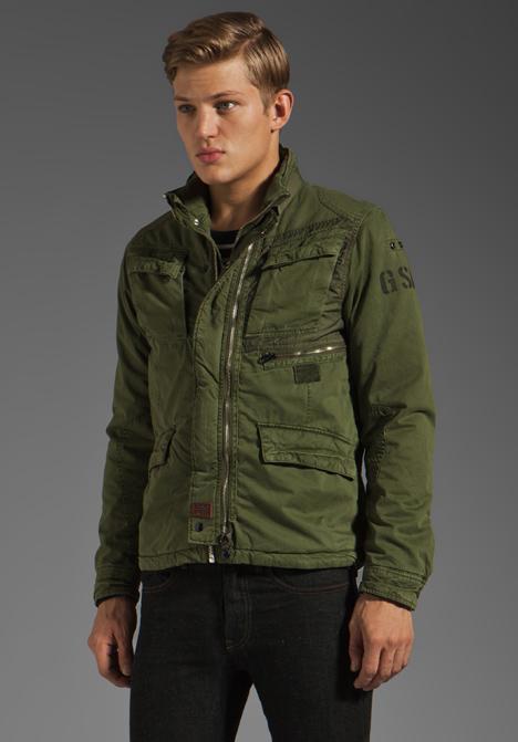 g star raw aero field jacket in green for men lyst. Black Bedroom Furniture Sets. Home Design Ideas