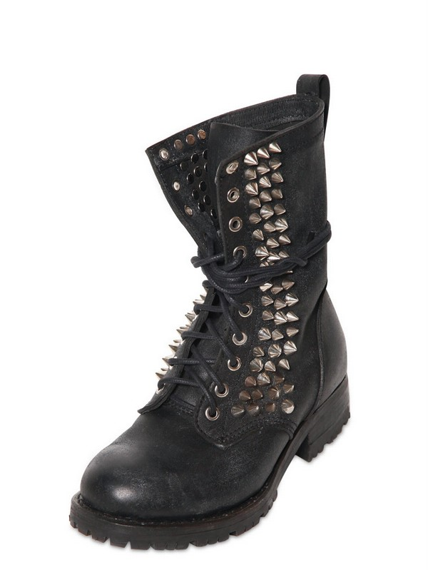 Lyst Jeffrey Campbell 40mm Halen Spiked Leather Boots In
