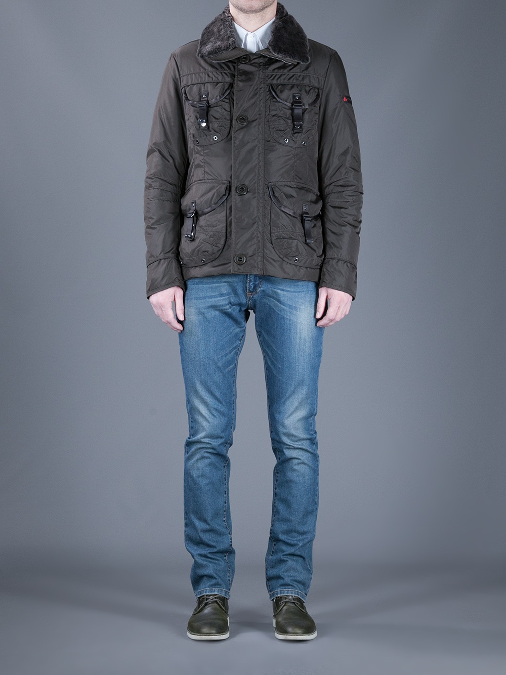 new concept 01b6e 8bf62 Peuterey Brown Miro Yd Jacket for men