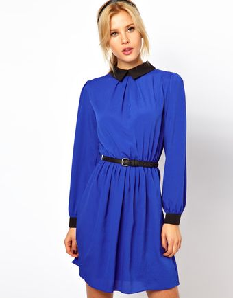 ASOS Collection Skater Dress with Collar - Lyst