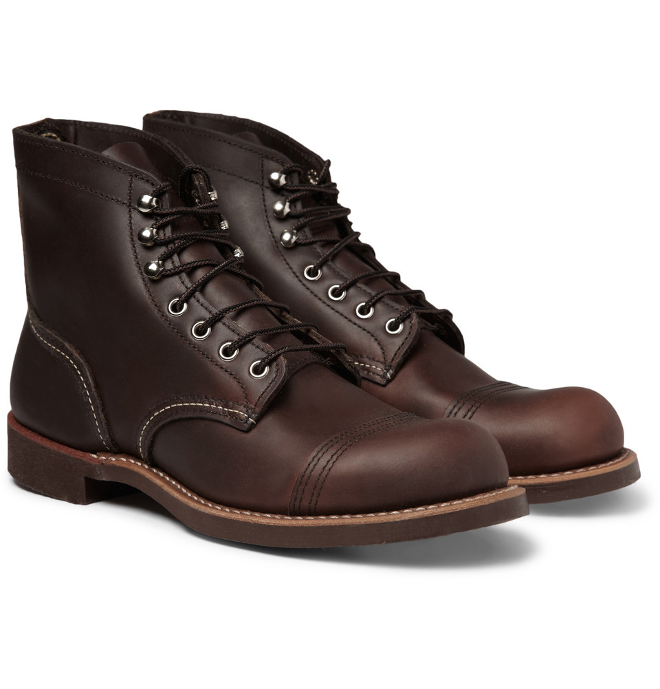 Red wing Iron Ranger Leather Boots in Brown for Men