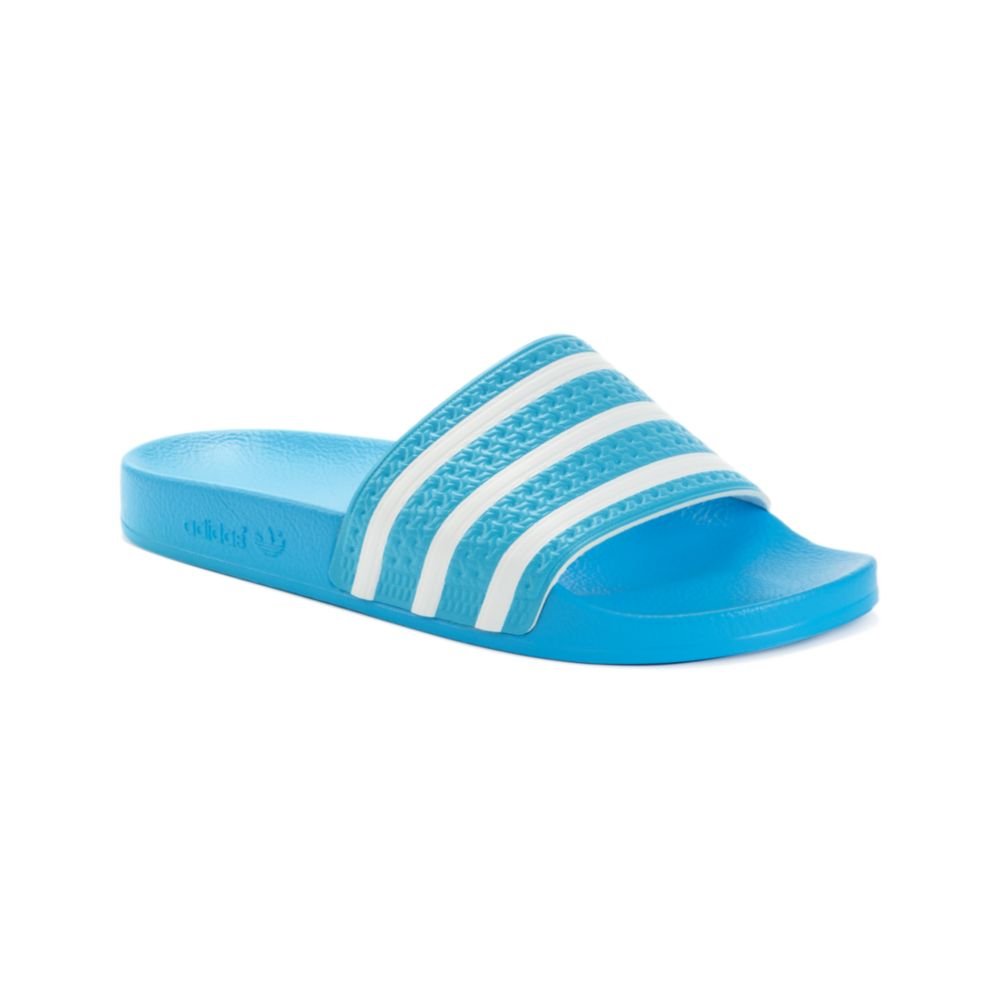 55e6eddad4da Lyst - adidas Adilette Slides in Blue for Men