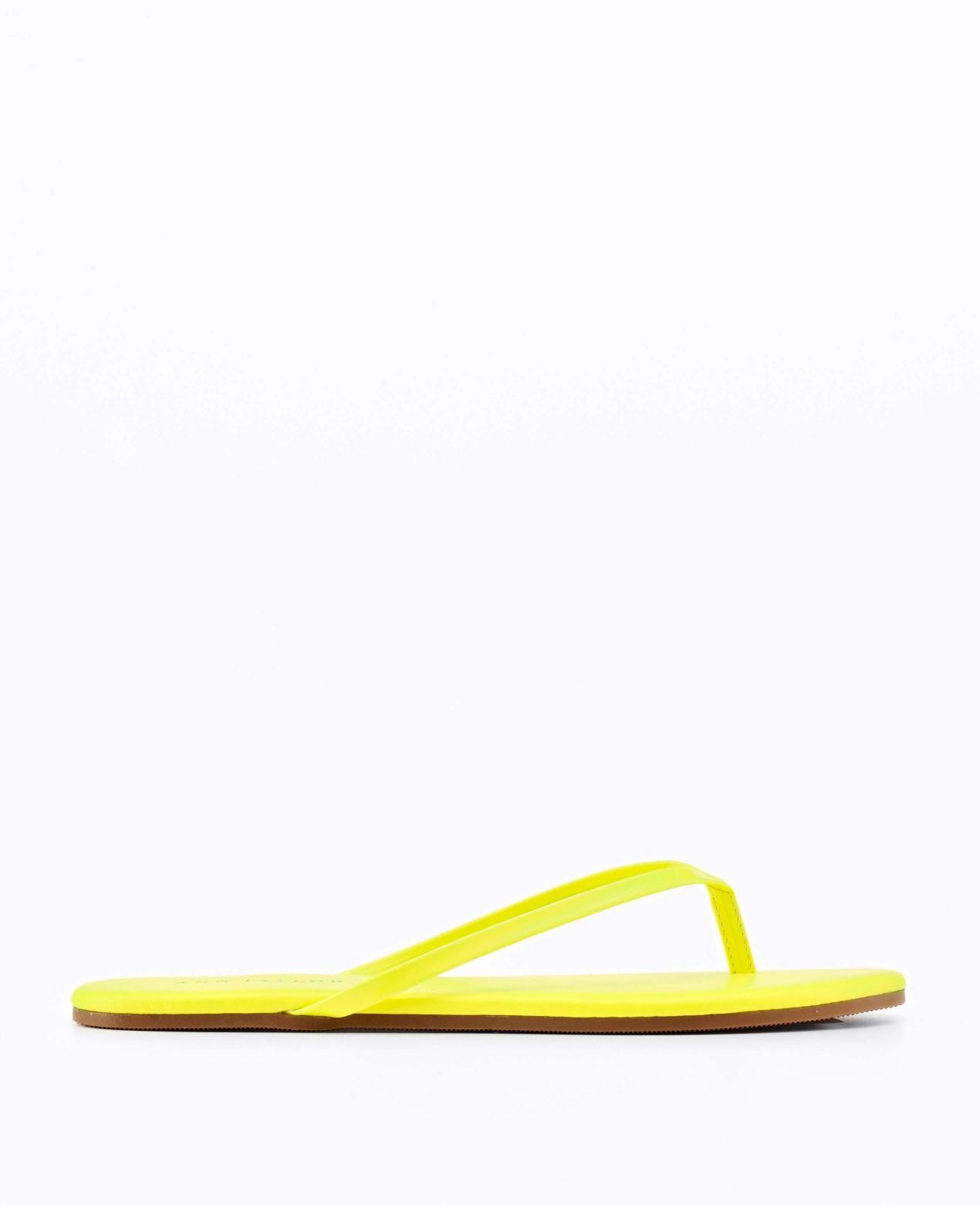 Lyst Ann Taylor Kellen Flip Flops In Yellow