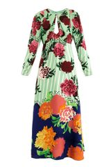 Marc Jacobs Oversized Floralprint Keyhole Dress