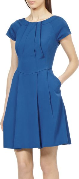 Reiss Jemima Fit And Flare Dress In Blue Peacock Blue Lyst