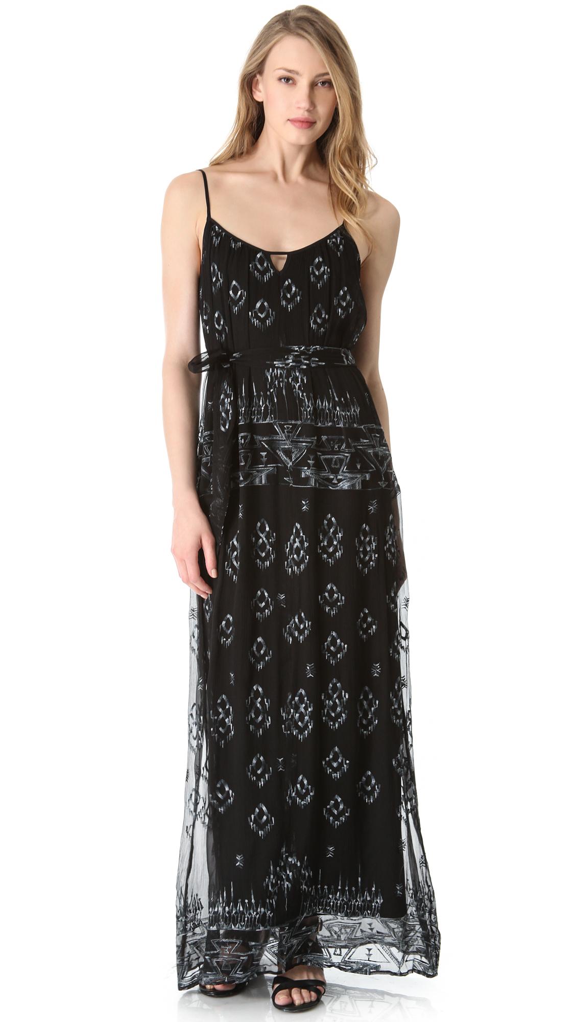 Twelfth street by cynthia vincent black maxi dress