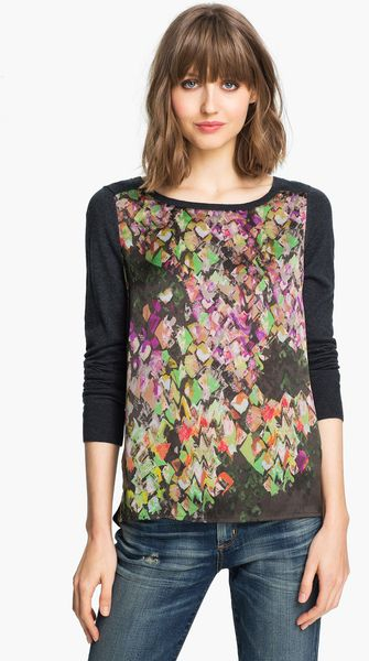 Trouvé Mixed Media Tunic - Lyst