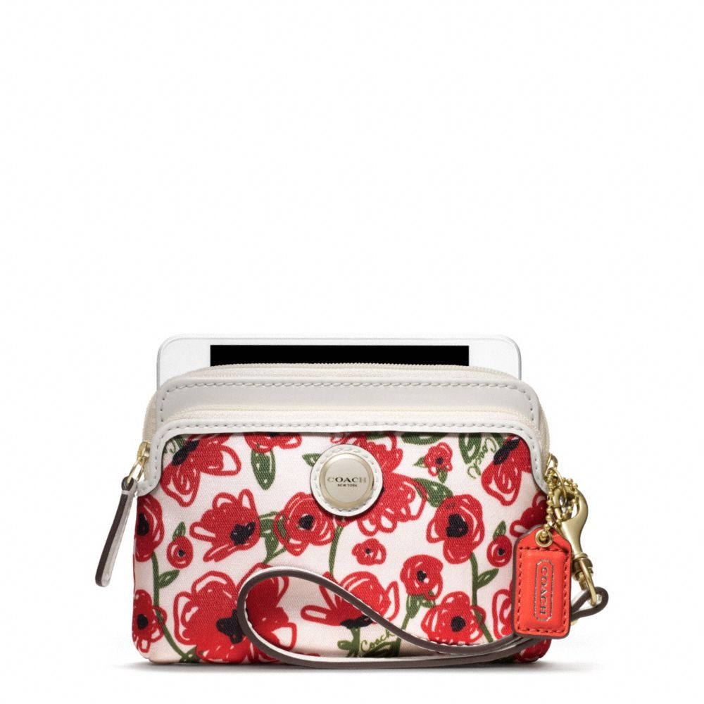 Lyst Coach Poppy Flower Print Double Zip Wristlet