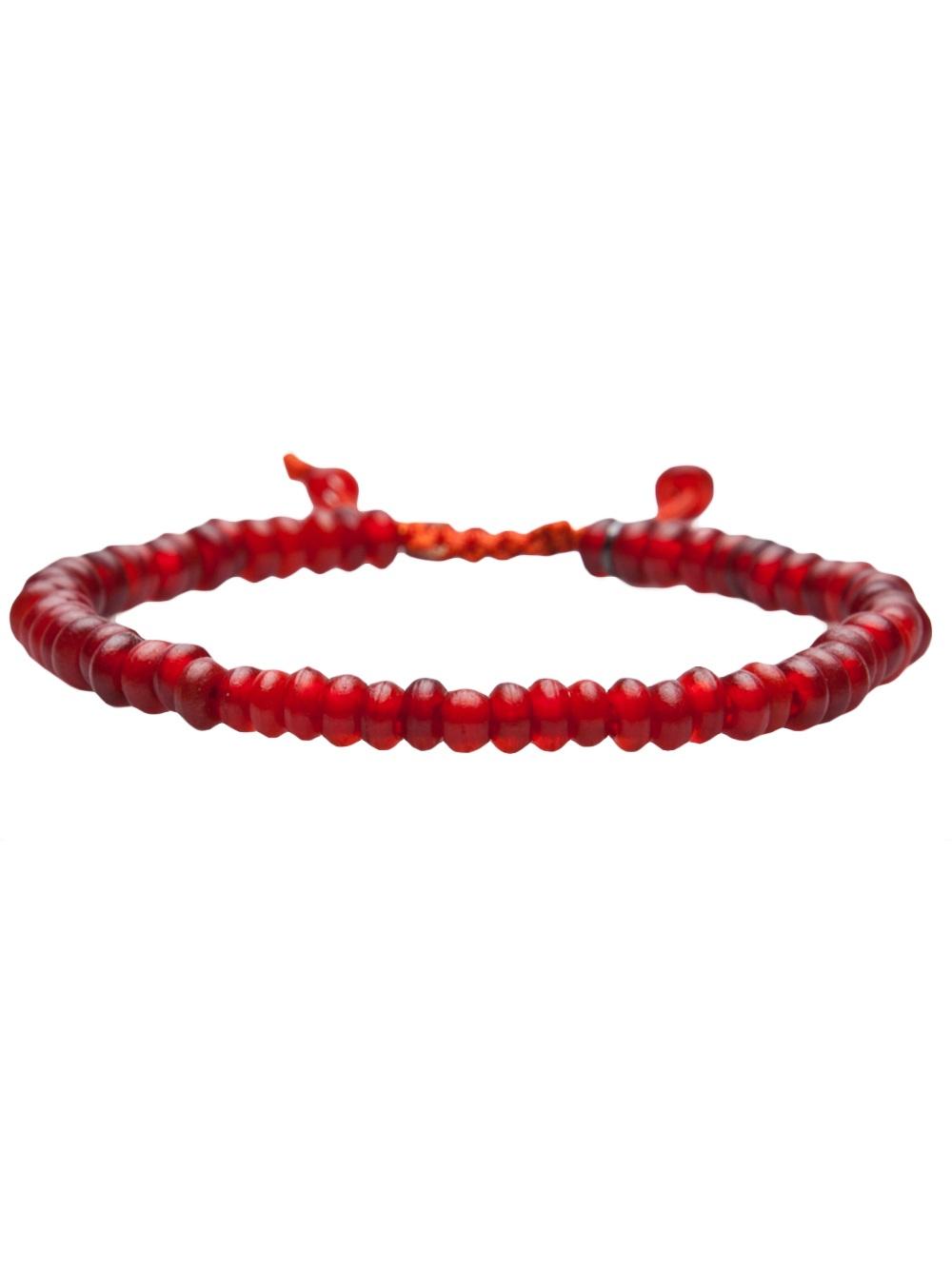 Lyst Joseph Brooks Beaded Bracelet In Red For Men