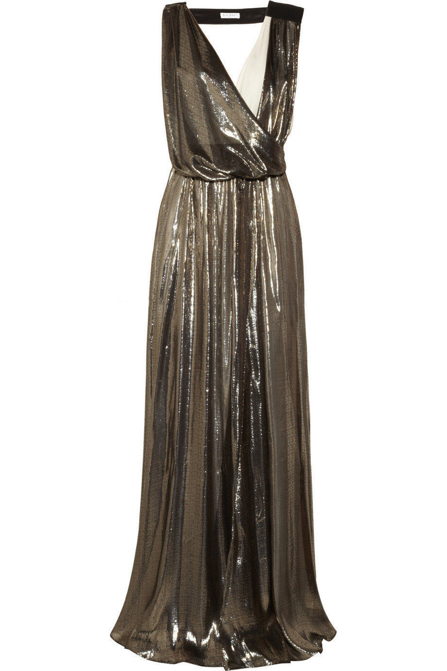 Lyst - Vionnet Metallic Silk blend and Cady Gown in Metallic