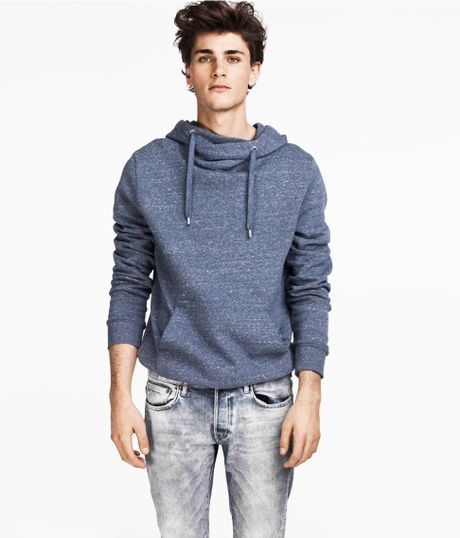 H&m Hooded Sweater in Blue
